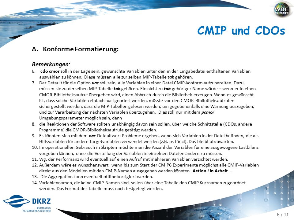 6 / 11 CMIP und CDOs