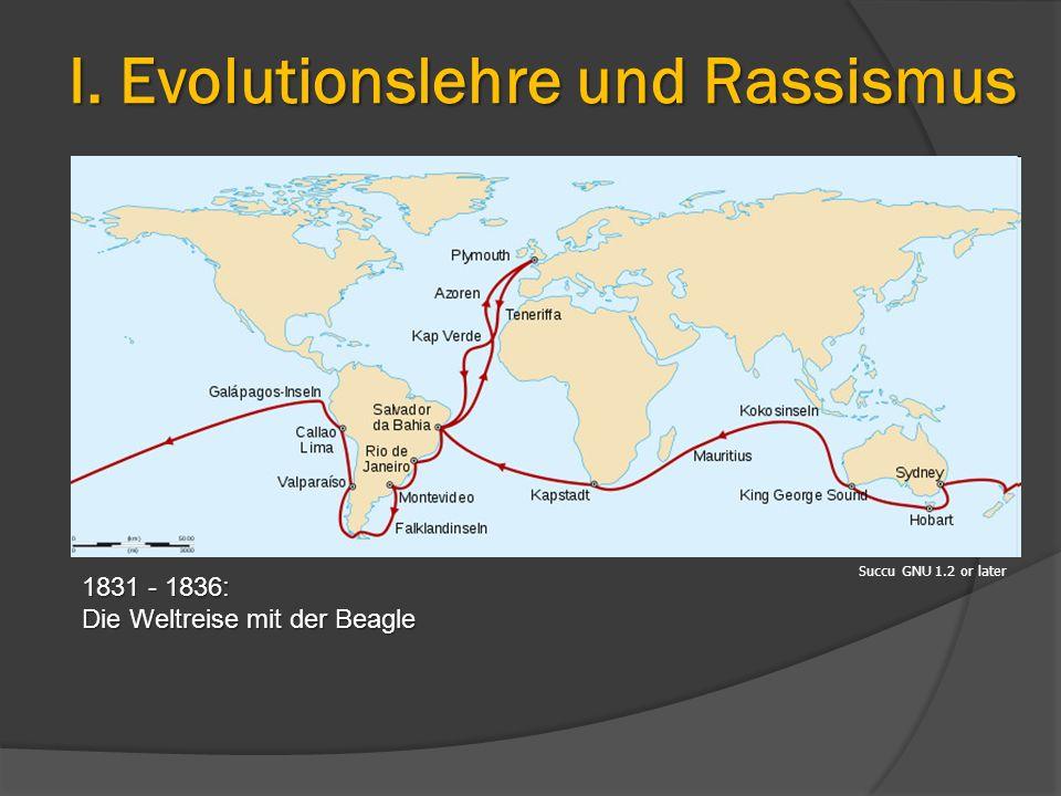 Succu GNU 1.2 or later 1831 - 1836: Die Weltreise mit der Beagle I. Evolutionslehre und Rassismus