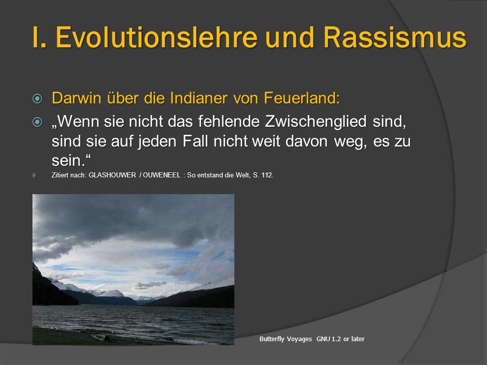 """Butterfly Voyages GNU 1.2 or later  Darwin über die Indianer von Feuerland:  """"Wenn sie nicht das fehlende Zwischenglied sind, sind sie auf jeden Fal"""