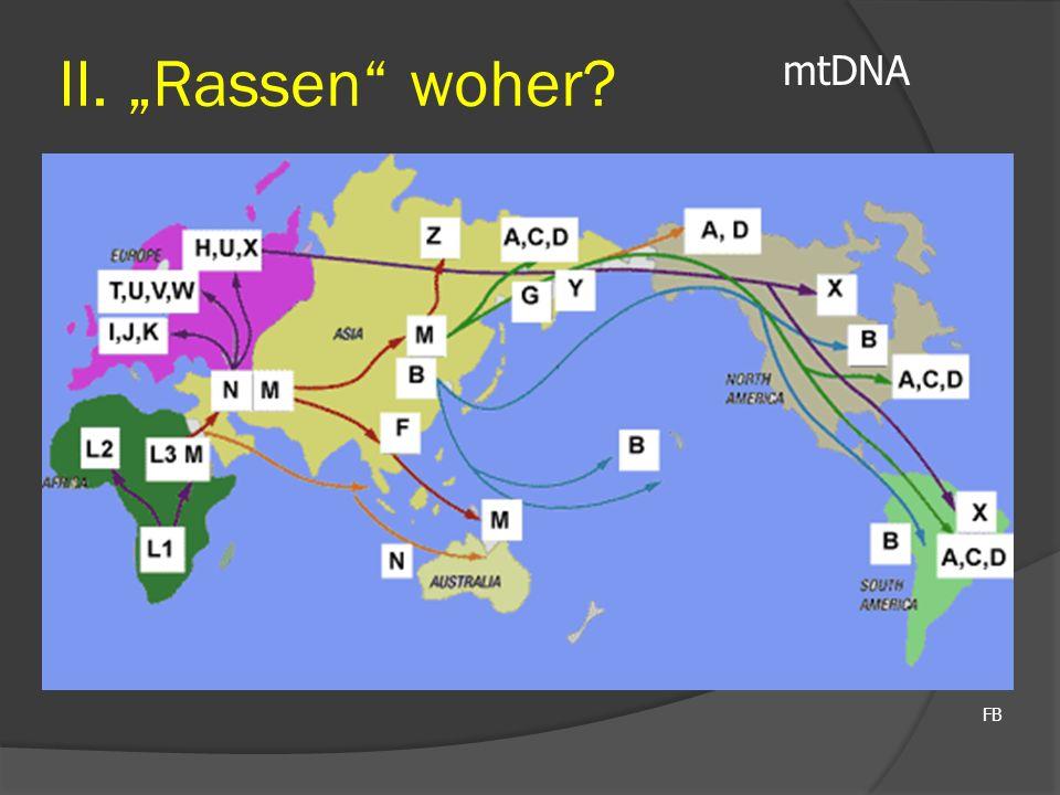 "FB mtDNA II. ""Rassen"" woher?"