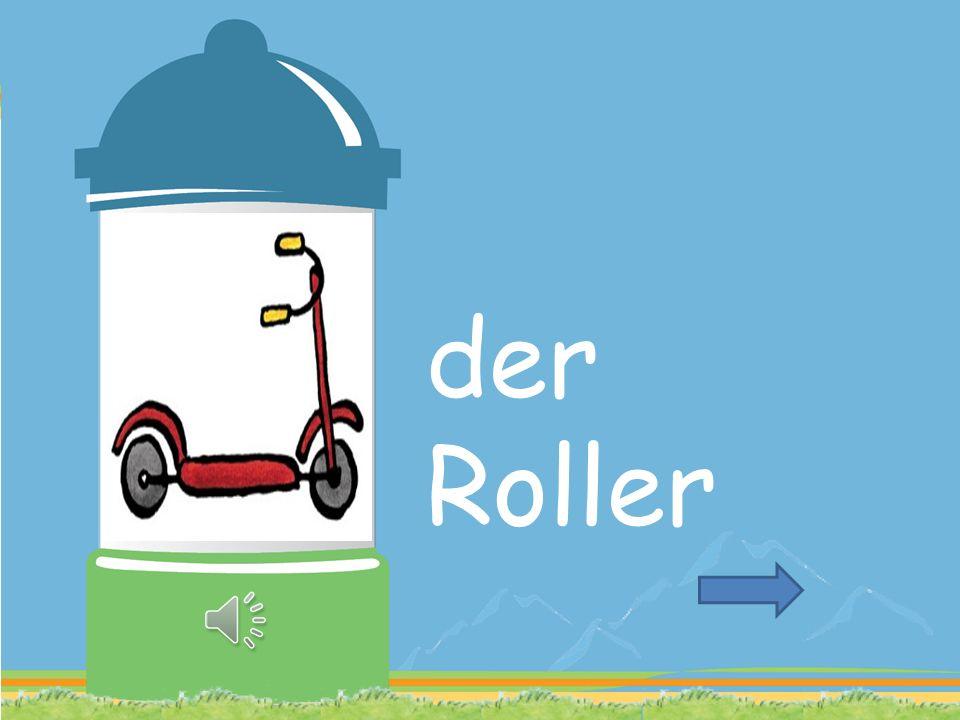ROLLER FALLEN ROLLEN GELB ALT