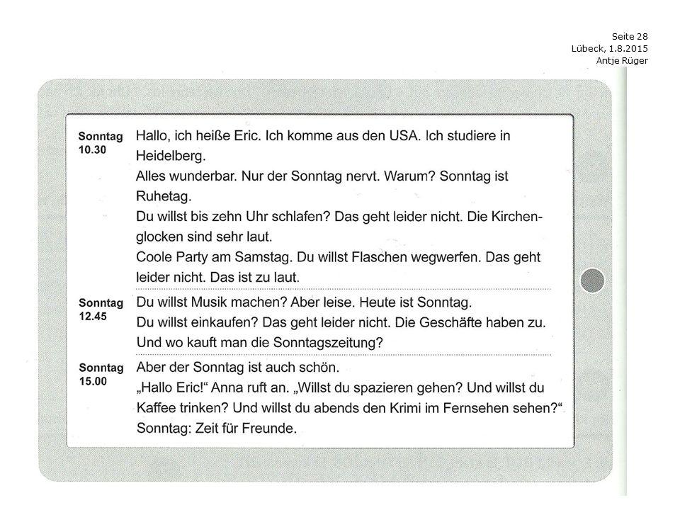 Seite 28 Antje Rüger Lübeck, 1.8.2015