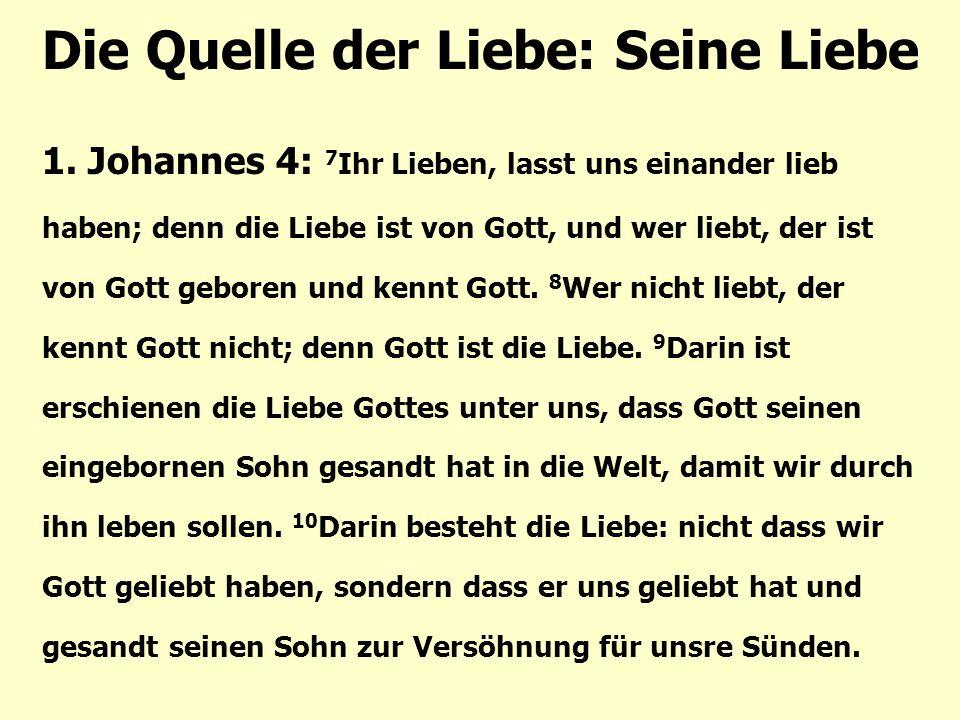 Die Quelle der Liebe: Seine Liebe 1.