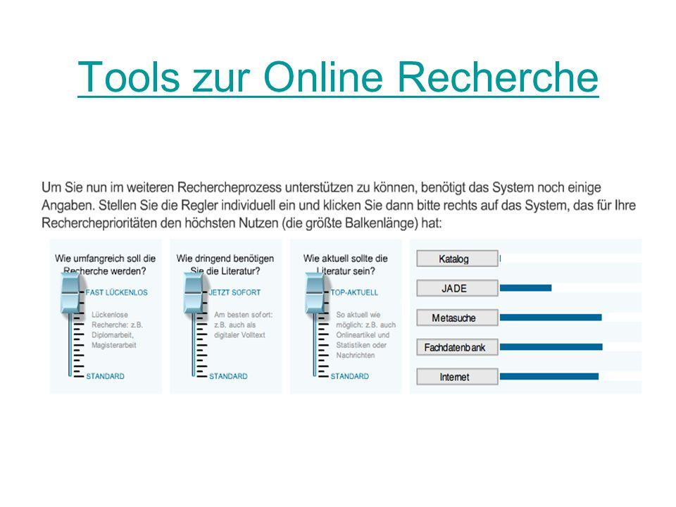 Tools zur Online Recherche