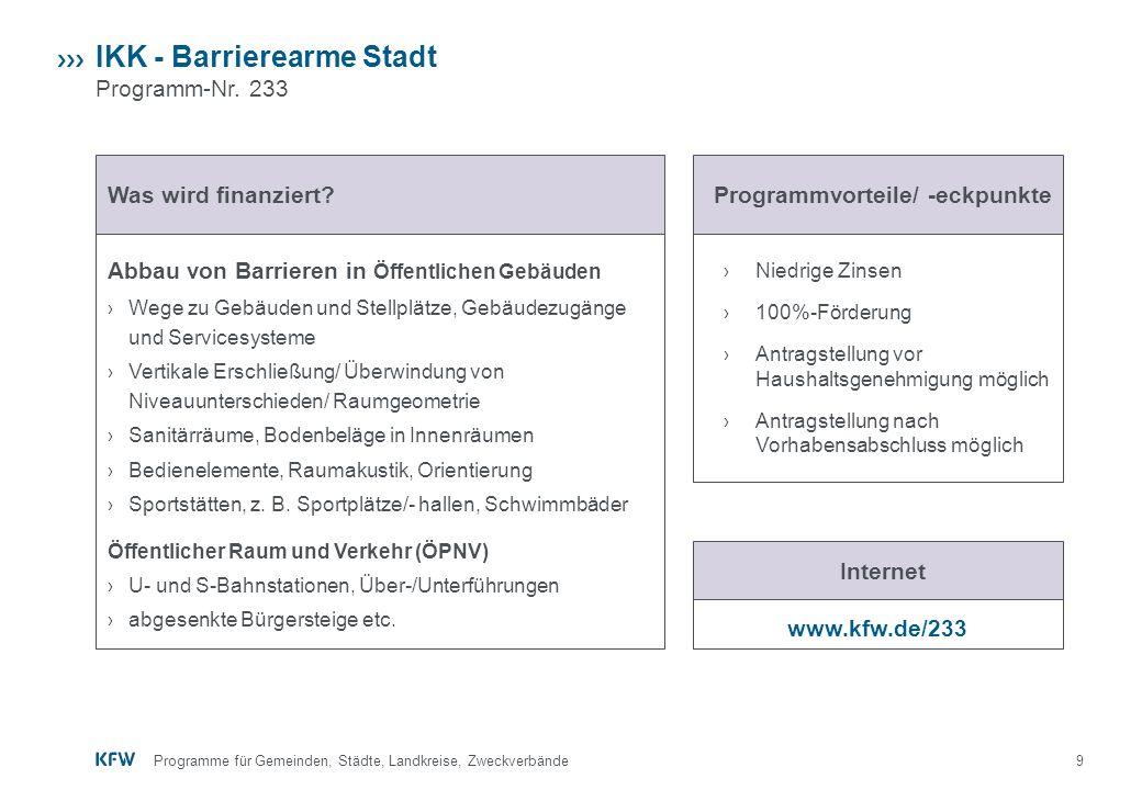 9 › Niedrige Zinsen › 100%-Förderung › Antragstellung vor Haushaltsgenehmigung möglich › Antragstellung nach Vorhabensabschluss möglich IKK - Barriere