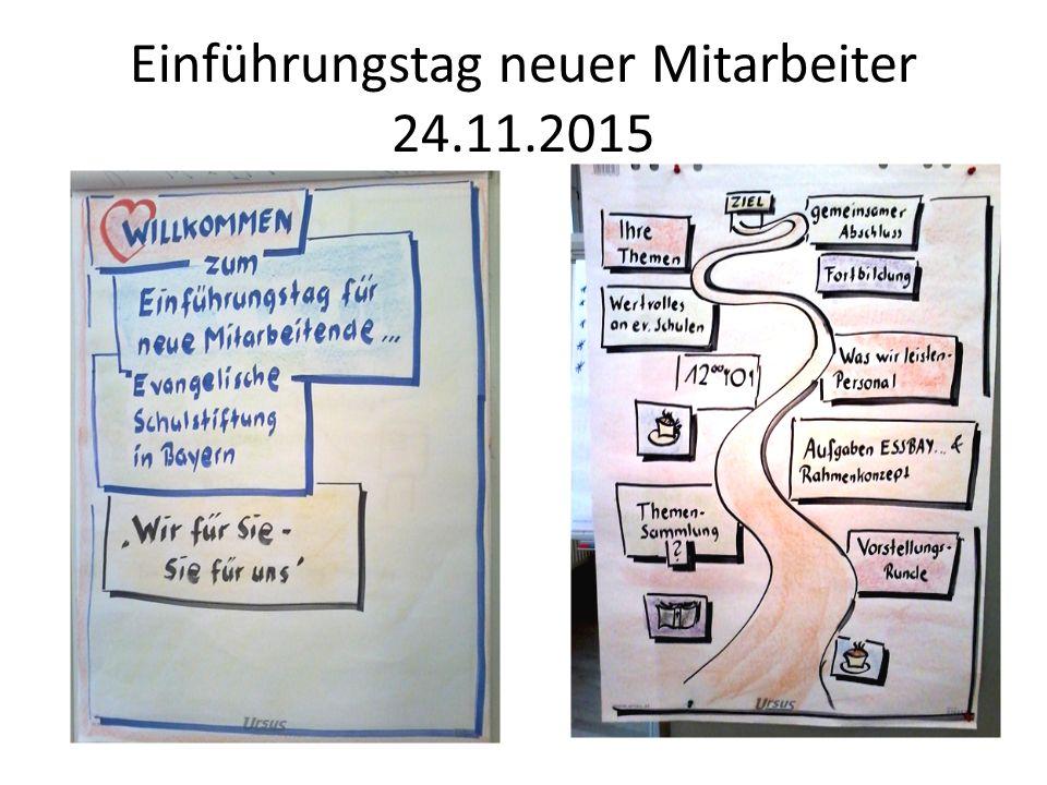 Einführungstag neuer Mitarbeiter 24.11.2015