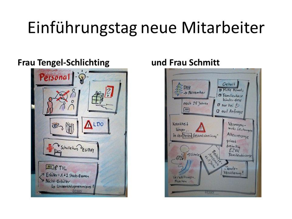 Einführungstag neue Mitarbeiter Frau Tengel-Schlichtingund Frau Schmitt