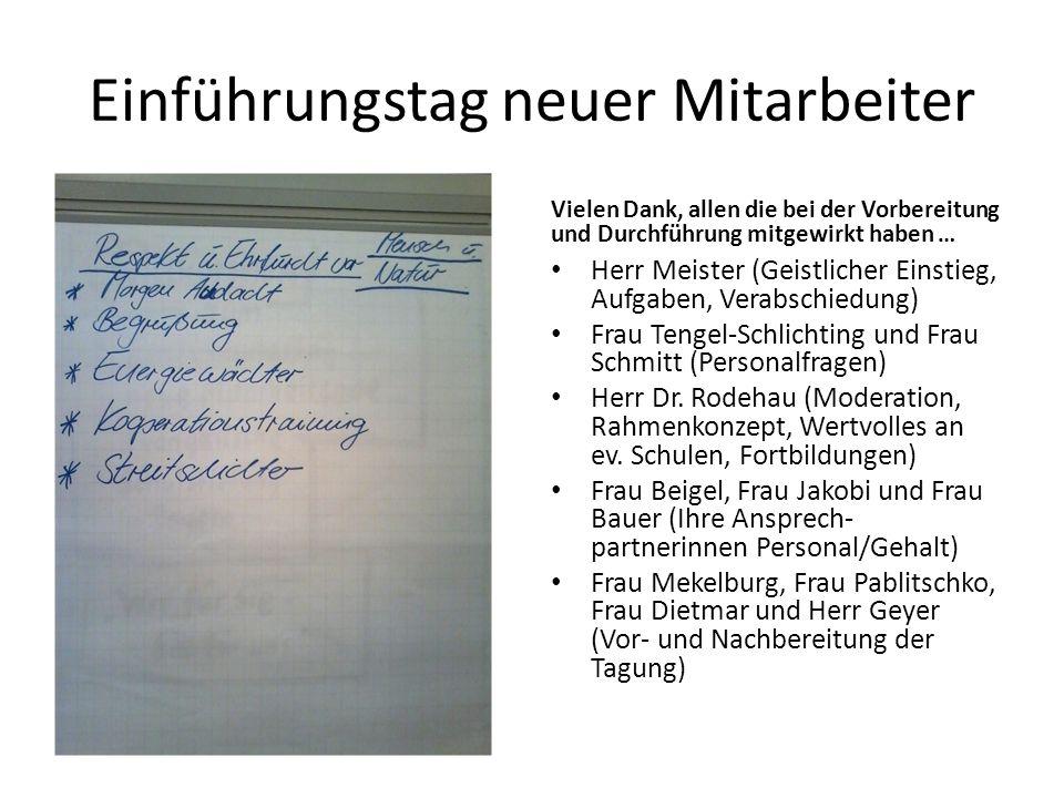 Vielen Dank, allen die bei der Vorbereitung und Durchführung mitgewirkt haben … Herr Meister (Geistlicher Einstieg, Aufgaben, Verabschiedung) Frau Tengel-Schlichting und Frau Schmitt (Personalfragen) Herr Dr.