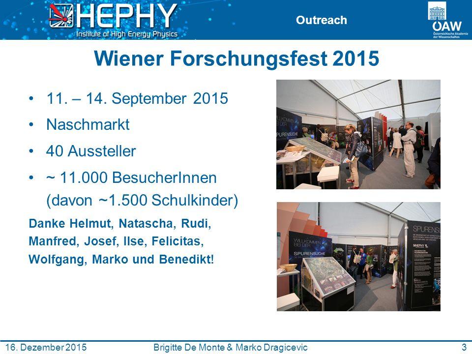 Outreach Wiener Forschungsfest 2015 11. – 14.