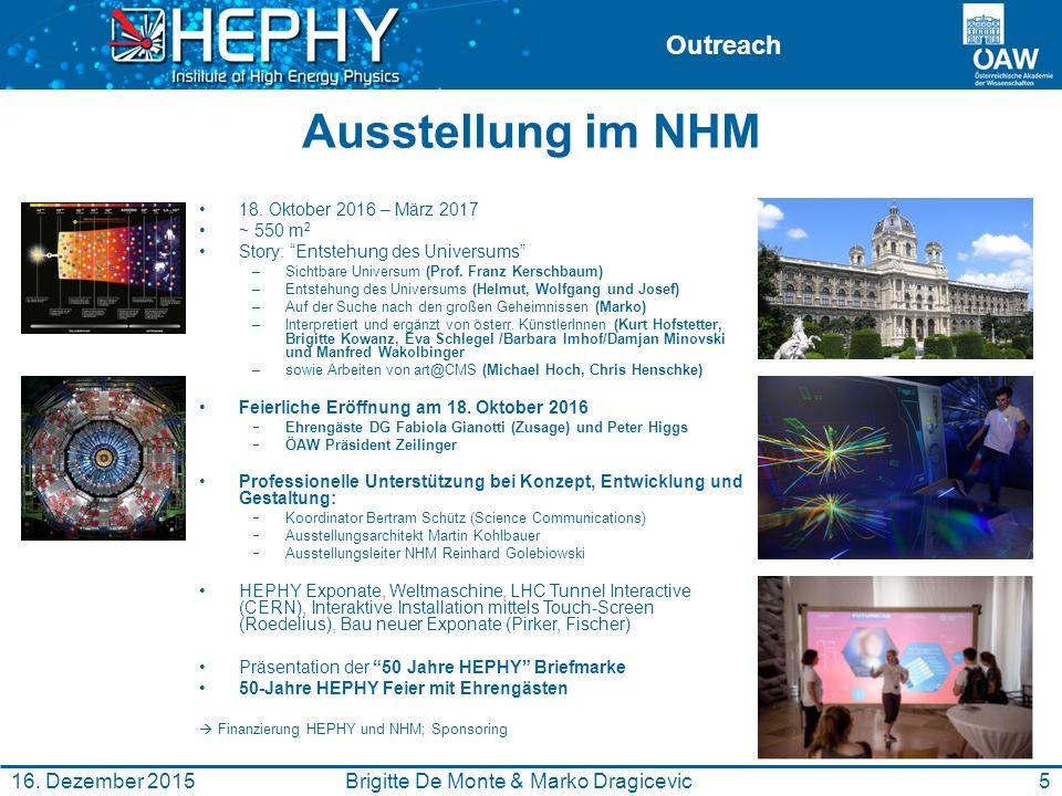 Outreach International Masterclasses 2016 Masterclasses am HEPHY Am 4.