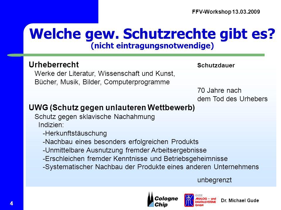 FFV-Workshop 13.03.2009 Dr.Michael Gude 5 Was ist eine Marke.