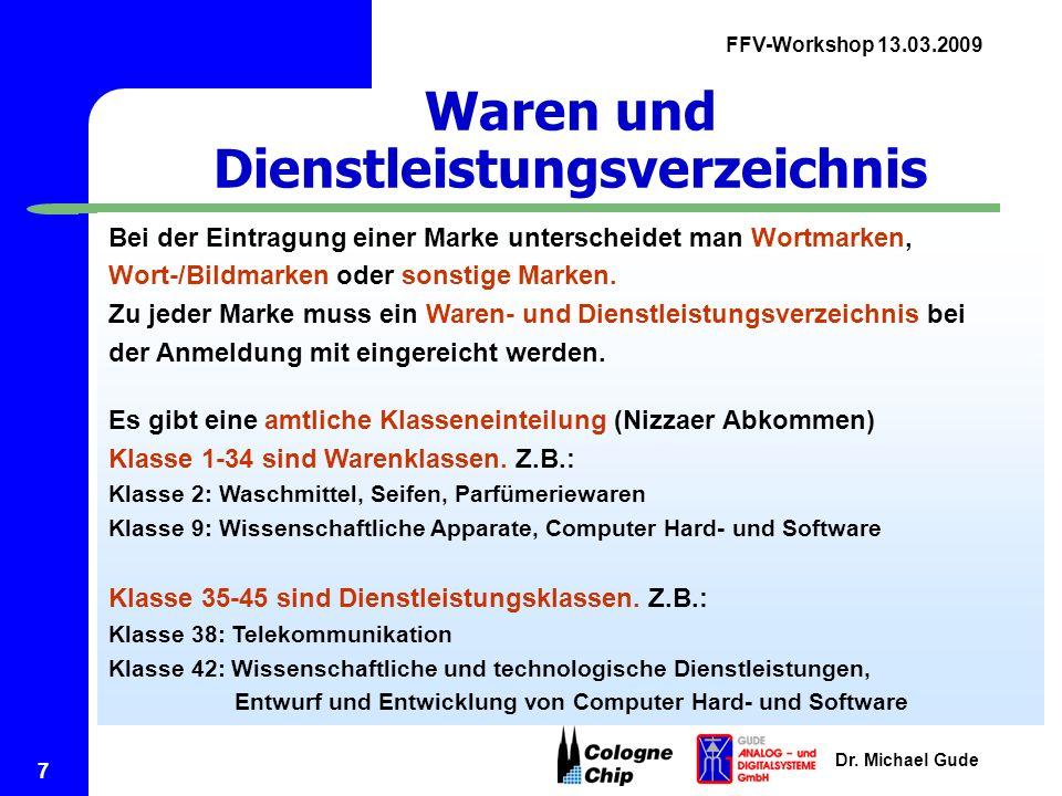 FFV-Workshop 13.03.2009 Dr.