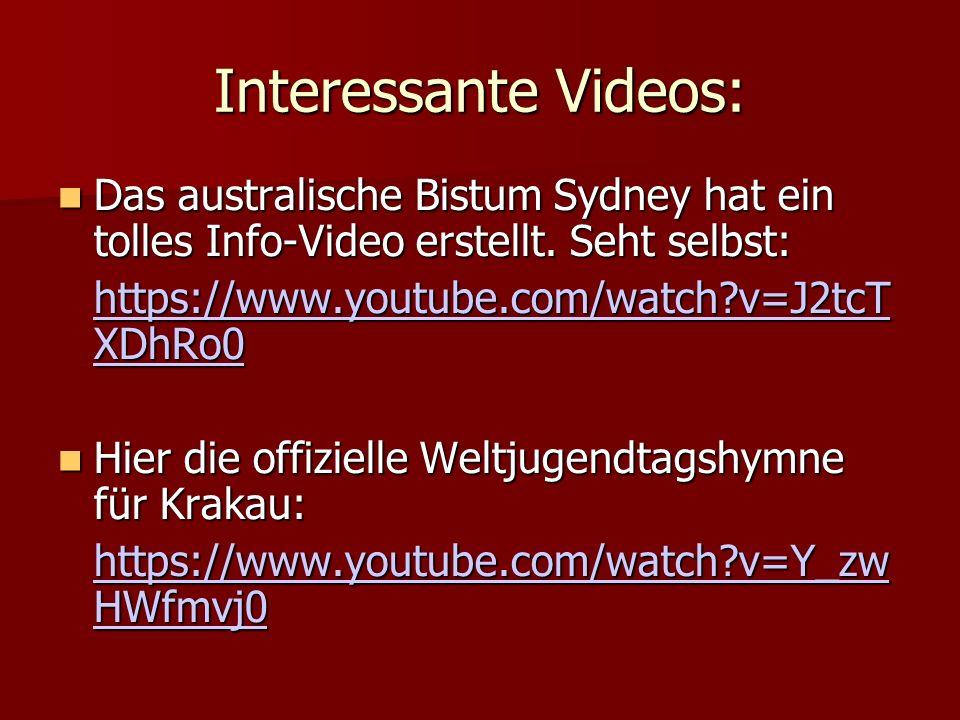 Interessante Videos: Das australische Bistum Sydney hat ein tolles Info-Video erstellt.
