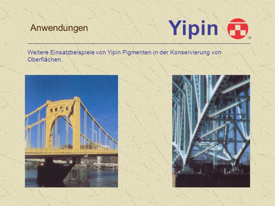 Anwendungen Weitere Einsatzbeispiele von Yipin Pigmenten in der Konservierung von Oberflächen.