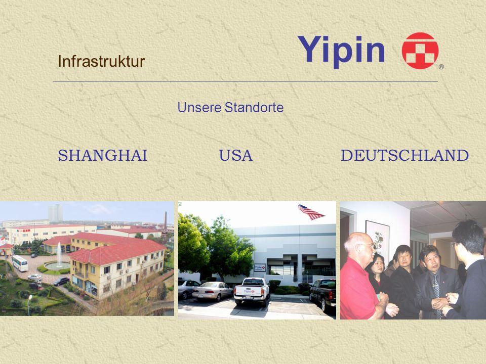 Infrastruktur Unsere Standorte SHANGHAI USA DEUTSCHLAND