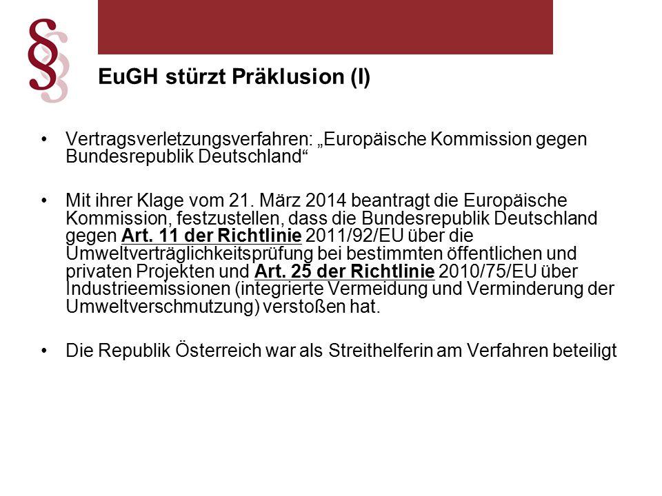 """Vertragsverletzungsverfahren: """"Europäische Kommission gegen Bundesrepublik Deutschland Mit ihrer Klage vom 21."""