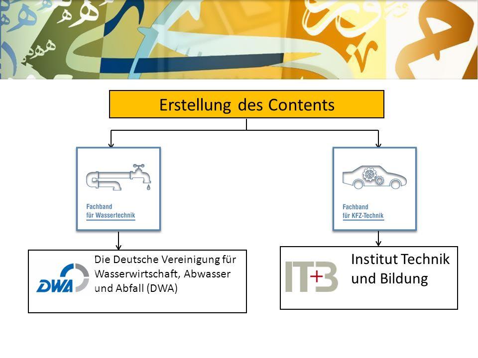 Erstellung des Contents Institut Technik und Bildung Die Deutsche Vereinigung für Wasserwirtschaft, Abwasser und Abfall (DWA)