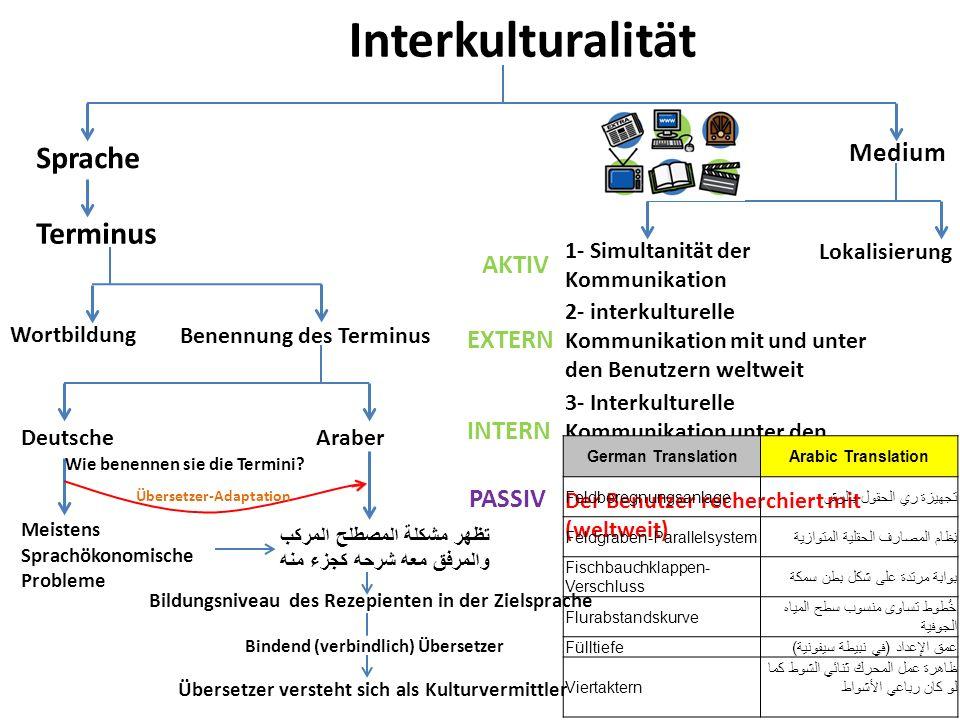 Interkulturalität Sprache Medium 1- Simultanität der Kommunikation Lokalisierung AKTIV 2- interkulturelle Kommunikation mit und unter den Benutzern we