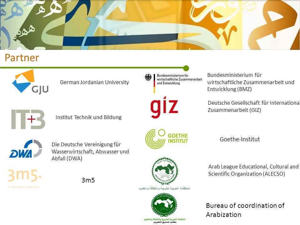 Partner Deutsche Gesellschaft für Internationale Zusammenarbeit (GIZ) Bundesministerium für wirtschaftliche Zusammenarbeit und Entwicklung (BMZ) Goeth