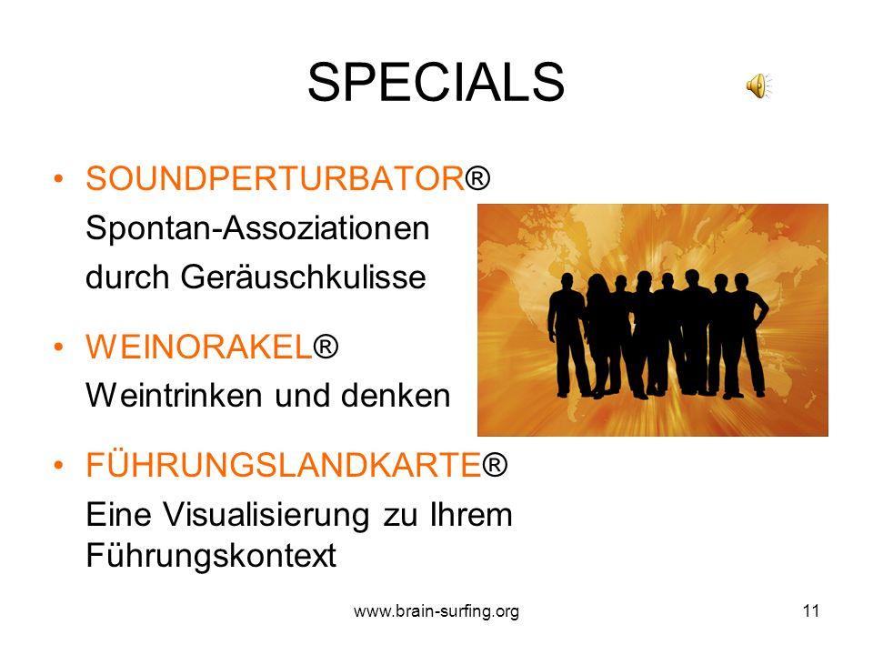 www.brain-surfing.org10 DENK LABOR Eine GEDANKEN-PRODUKTIONS-MASCHINE im Internet mit: 1.