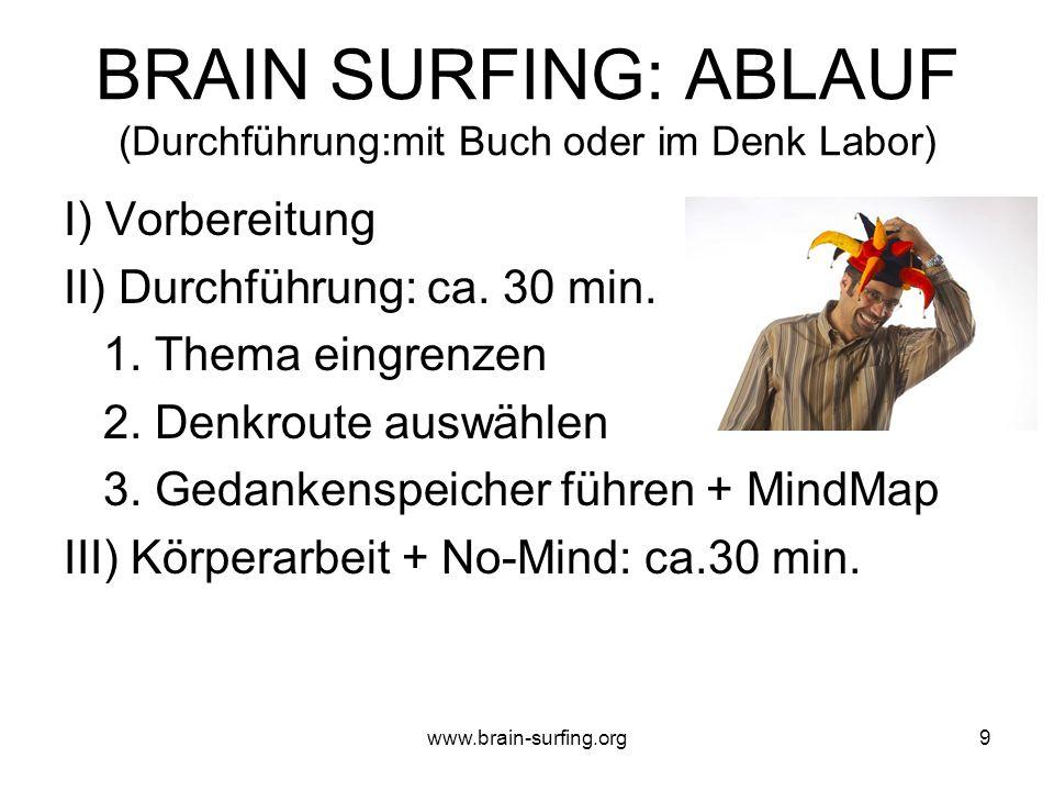 www.brain-surfing.org8 Worauf kommt es beim DENKEN an.