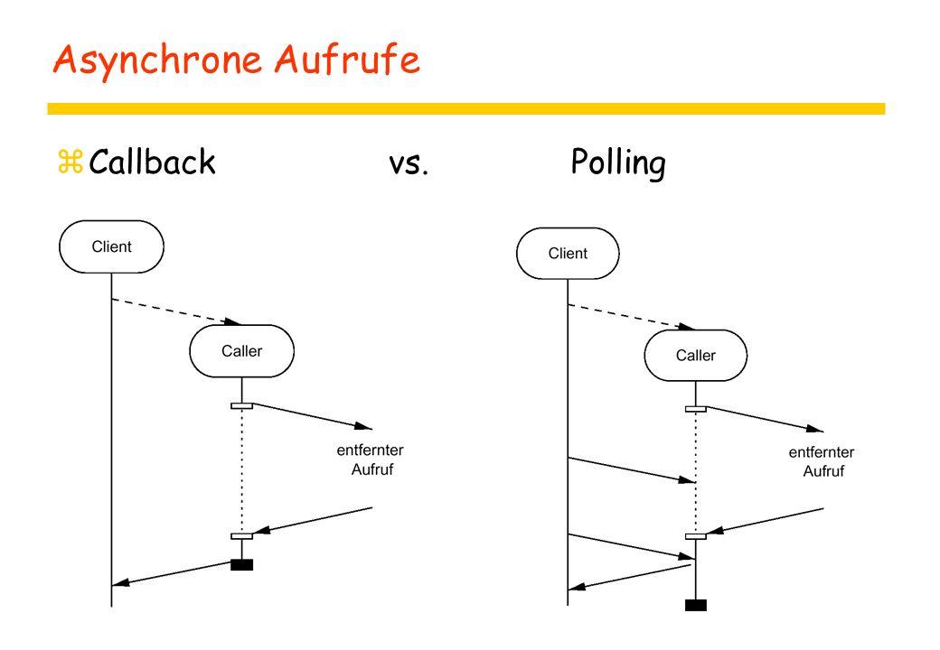 Asynchrone Aufrufe zCallback vs. Polling