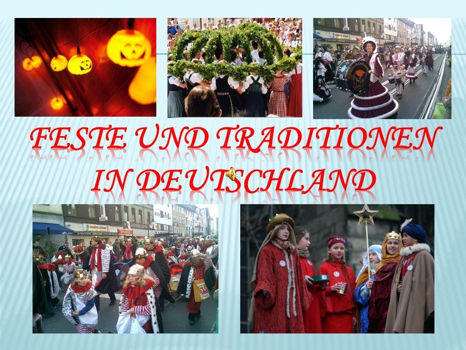 Einführung Die meisten Feste in Deutschland sind natürlich stark vom Christentum geprägt, haben aber oftmals auch Wurzeln in germanischen Riten.