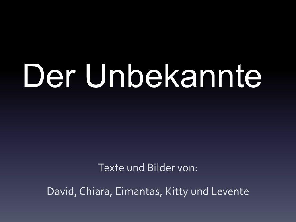 Der Unbekannte Texte und Bilder von: David, Chiara, Eimantas, Kitty und Levente