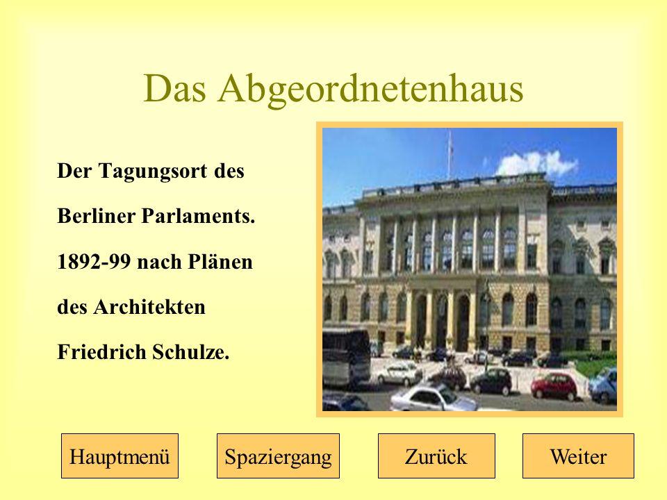 Das Abgeordnetenhaus Der Tagungsort des Berliner Parlaments.