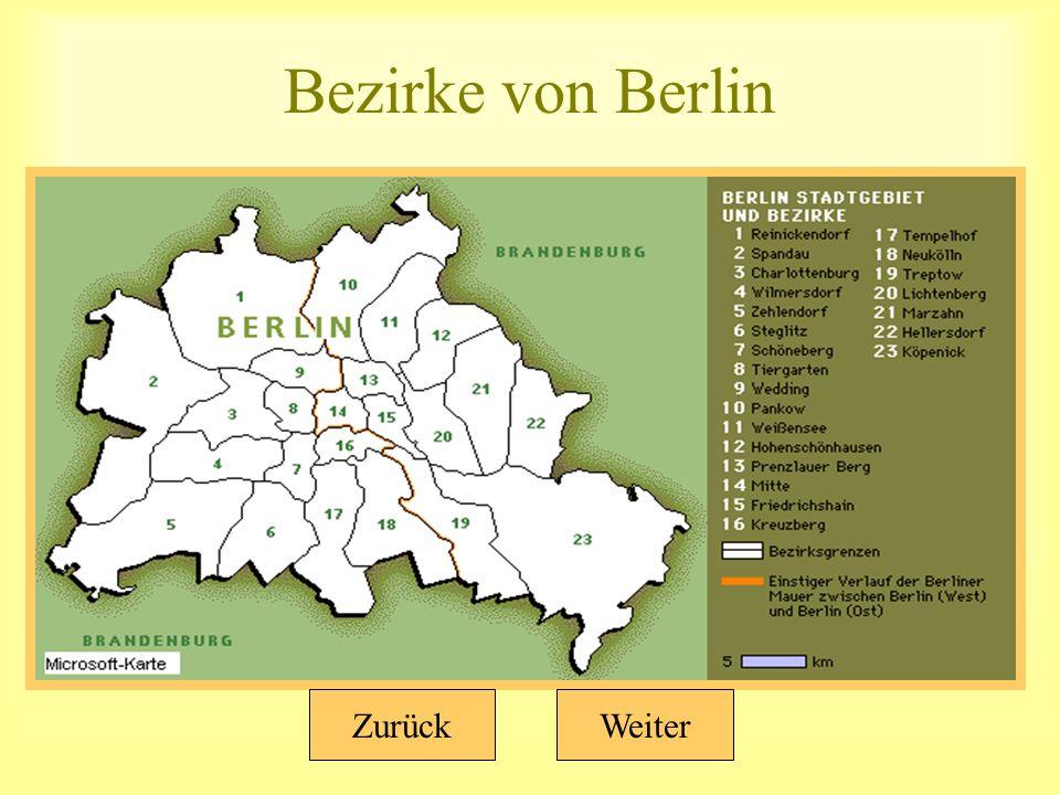 Bezirke von Berlin WeiterZurück