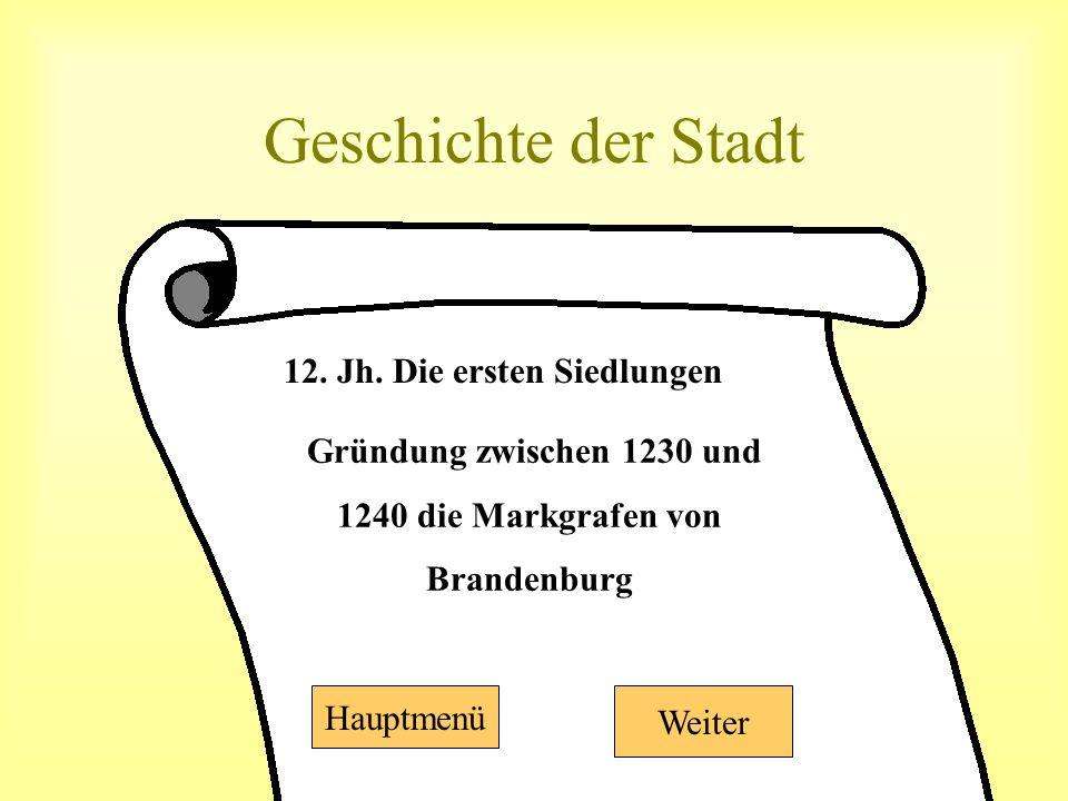 Geschichte der Stadt 12. Jh.