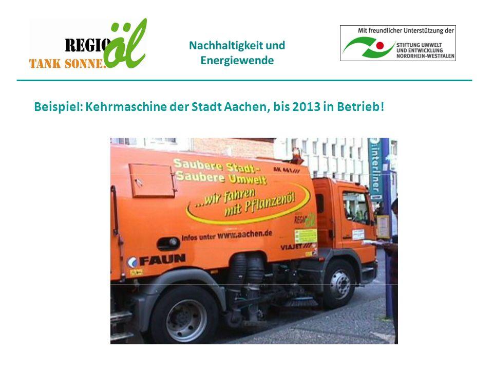 Beispiel: Kehrmaschine der Stadt Aachen, bis 2013 in Betrieb!