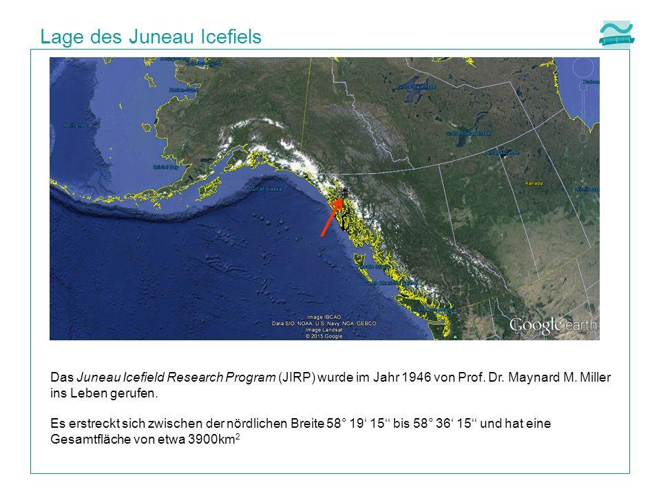 Lage des Juneau Icefiels Das Juneau Icefield Research Program (JIRP) wurde im Jahr 1946 von Prof.
