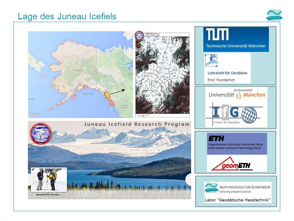 Lage des Juneau Icefiels