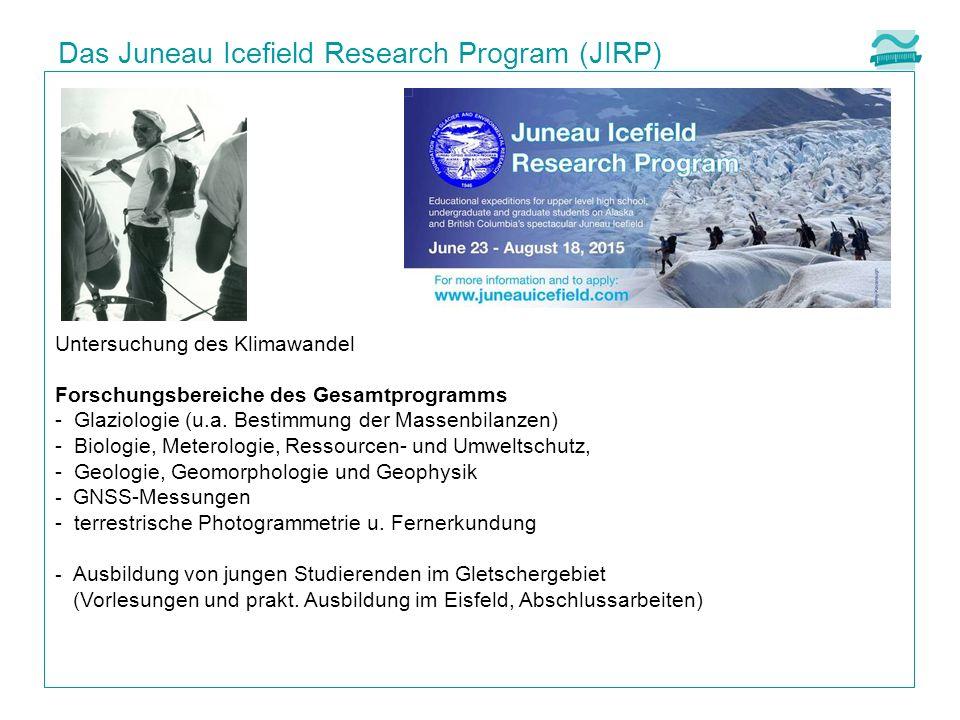 Untersuchung des Klimawandel Forschungsbereiche des Gesamtprogramms - Glaziologie (u.a.