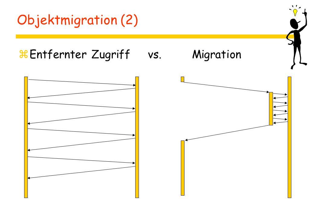 Objektmigration (2) zEntfernter Zugriff vs. Migration