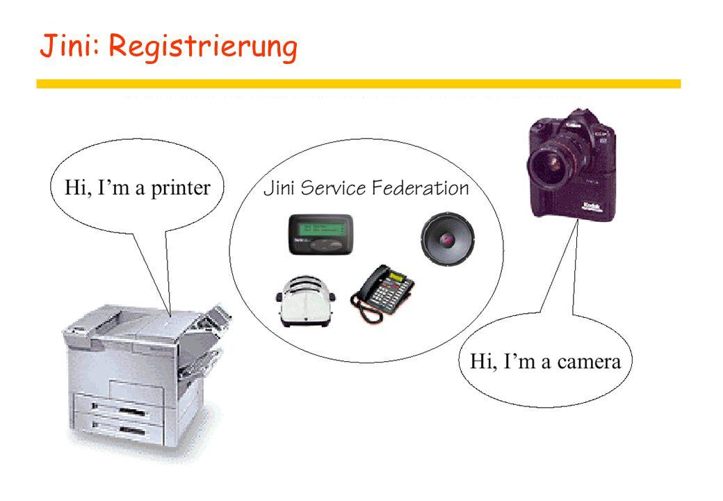 Jini: Registrierung