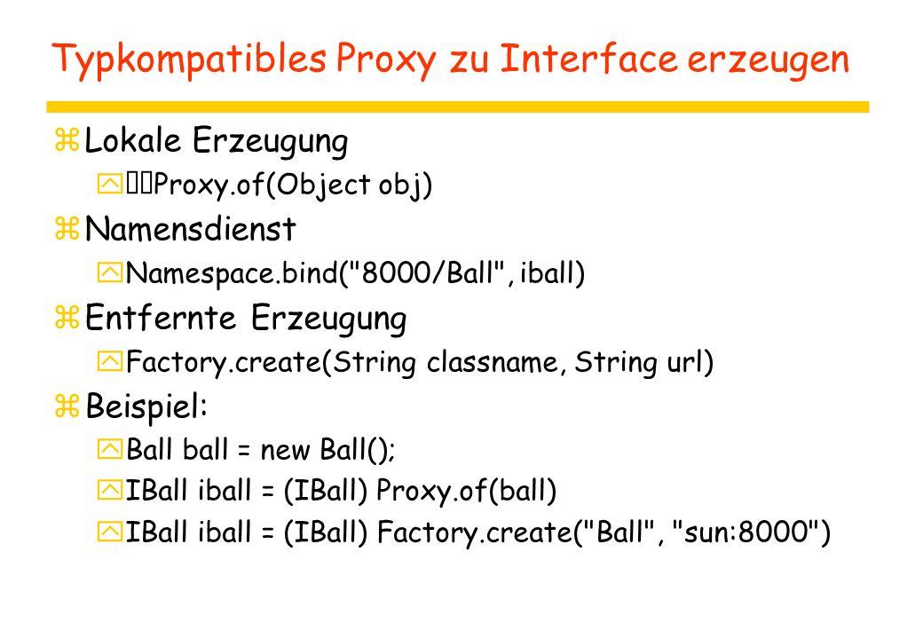 Softwarepakete in Java zimport java.rmi.*; zimport java.rmi.server.*; zimport net.jini.core.lookup.*; zimport sun.com.jini.lookup.*; zimport sun.com.jini.lease.*; siehe: Java in verteilten Systemen Marko Boger