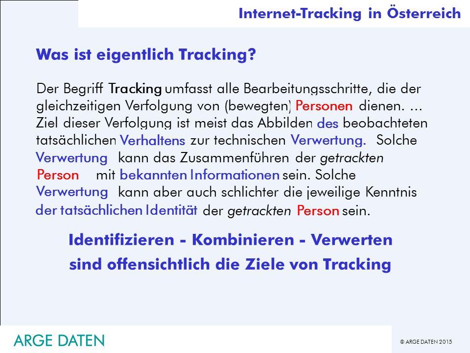 © ARGE DATEN 2015 ARGE DATEN Was ist eigentlich Tracking.