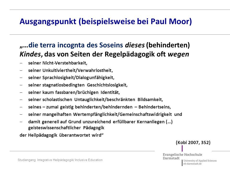 Studiengang Integrative Heilpädagogik/ Inclusive Education Der Soziale Raum – P.