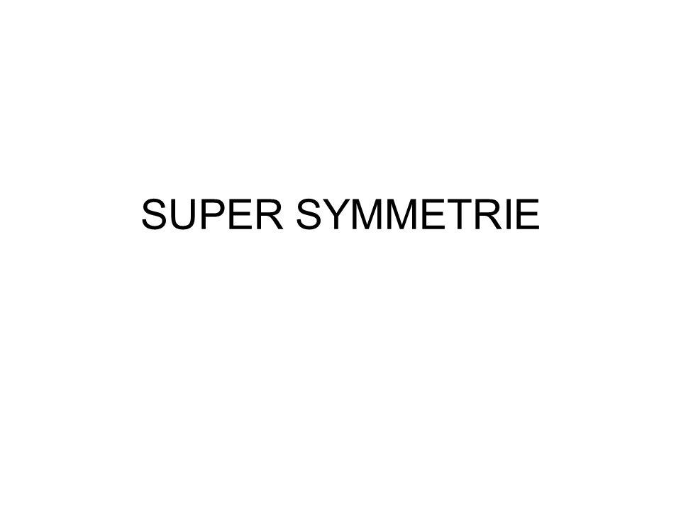 SUPER SYMMETRIE