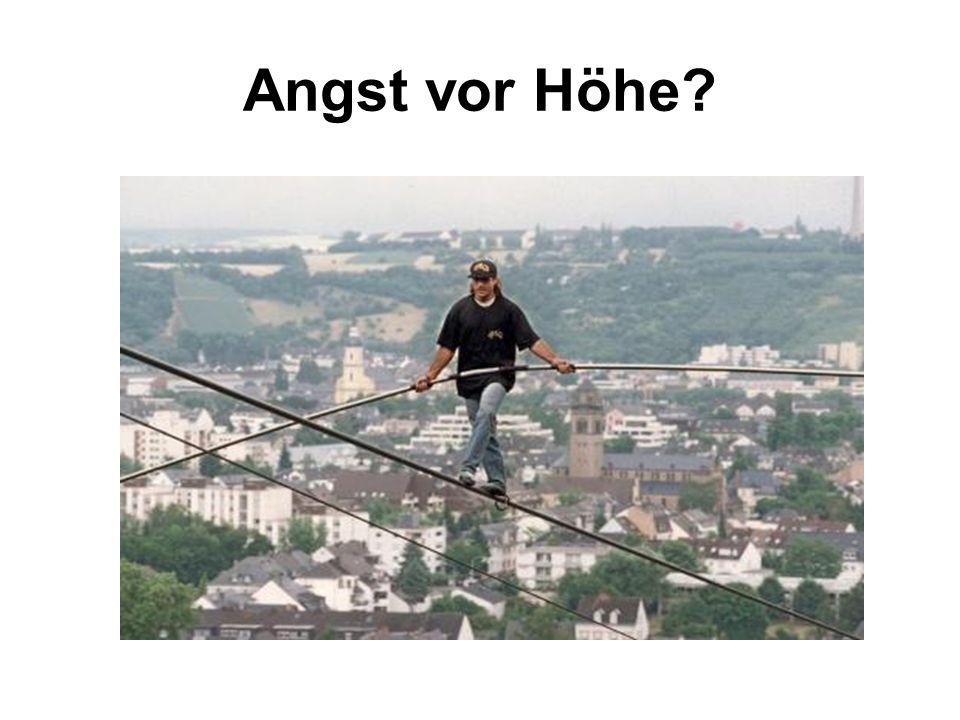Angst vor Höhe?