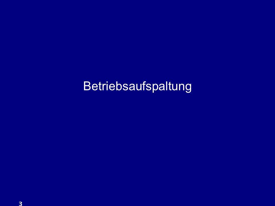 4 beherrschende Gesellschafter 1 wesentliche Betriebsgrundlage Der beherrschende Gesellschafter (51 %) überläßt seiner GmbH 1 wesentliche Betriebsgrundlage.