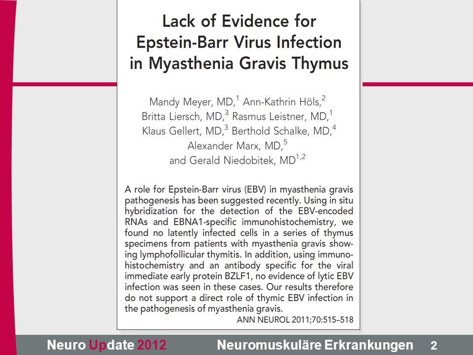 Neuro Update 2012 Neuromuskuläre Erkrankungen Dystrophinopathien – Molekulargenetik 5 Domänen: Aktin-Bindung, Linker (repeats), ß-DG-Bindung, Hinge, C-term.