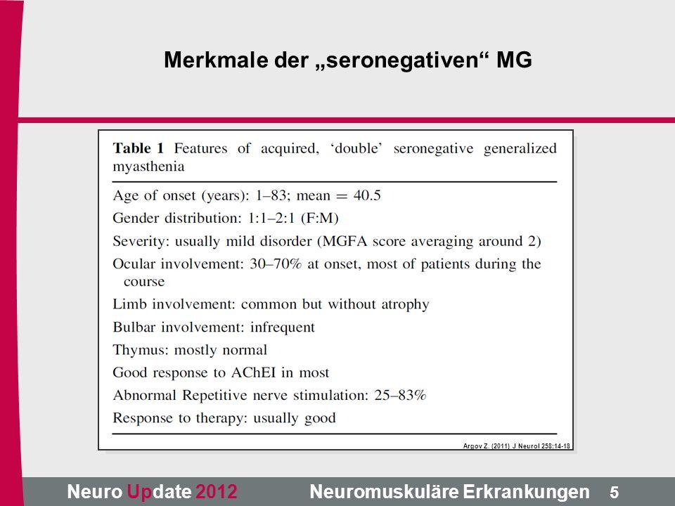 Neuro Update 2012 Neuromuskuläre Erkrankungen Argov Z.