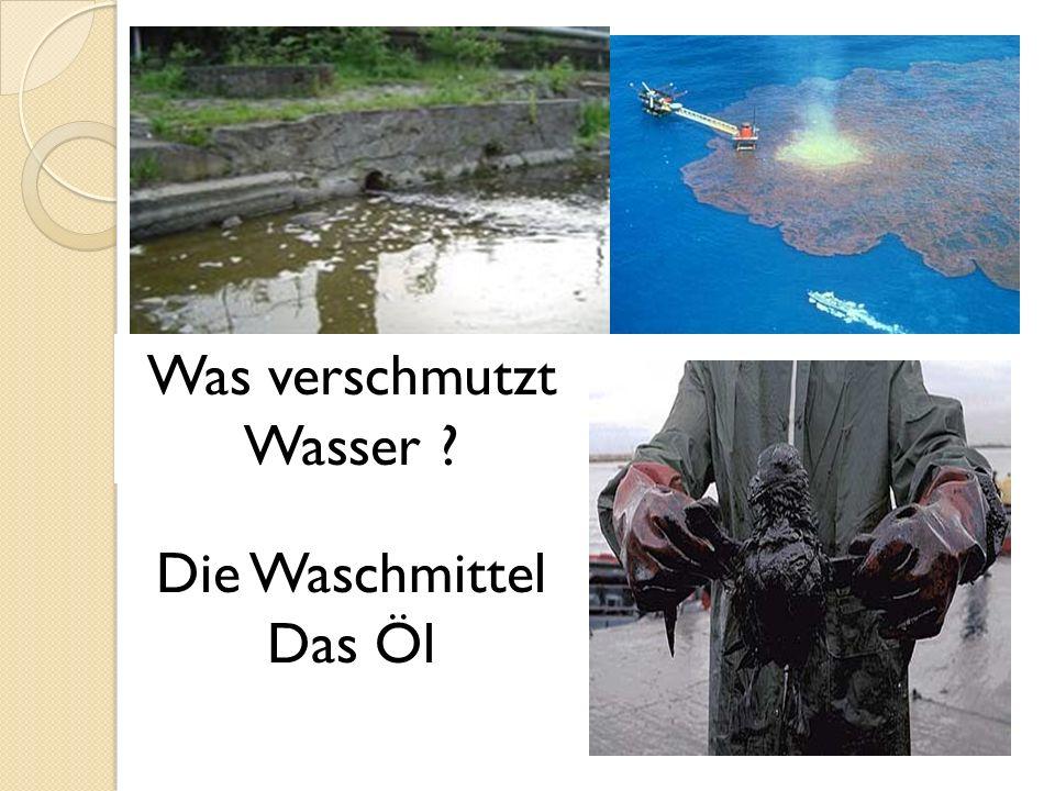 Was verschmutzt Wasser ? Die Waschmittel Das Öl