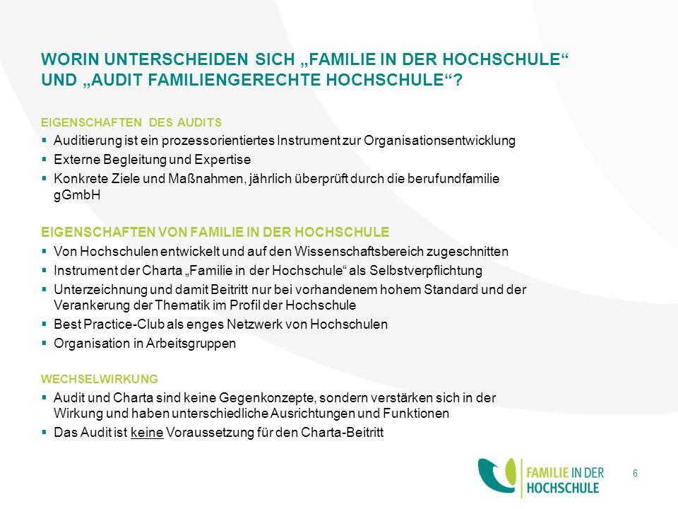 KONTAKT www.familie-in-der-hochschule.de info@familie-in-derhochschule.de 7