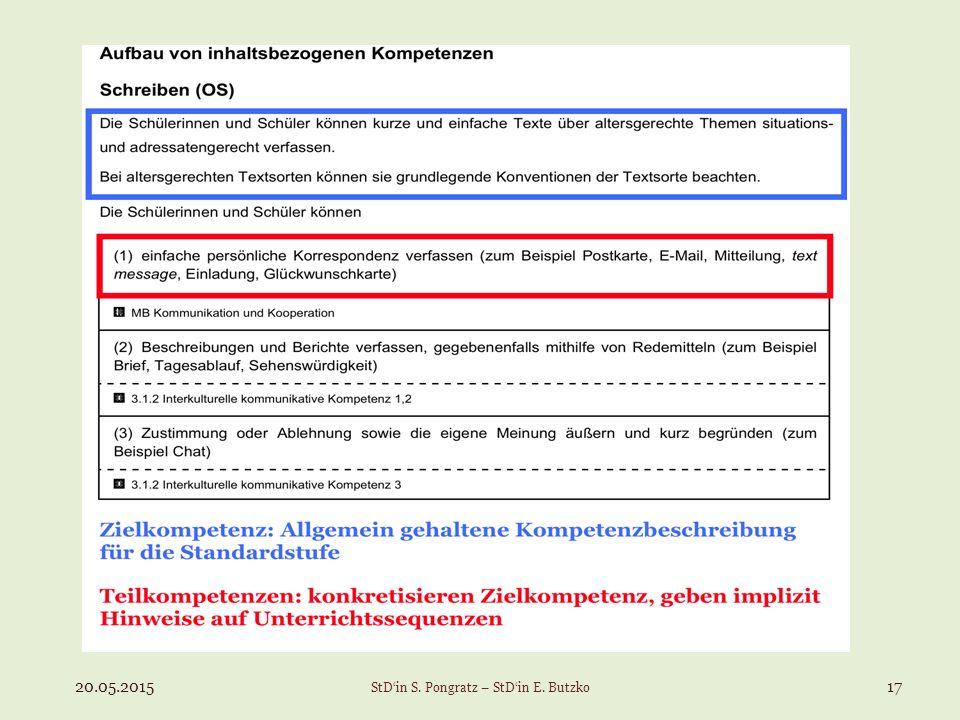 20.05.201517 StD'in S. Pongratz – StD'in E. Butzko