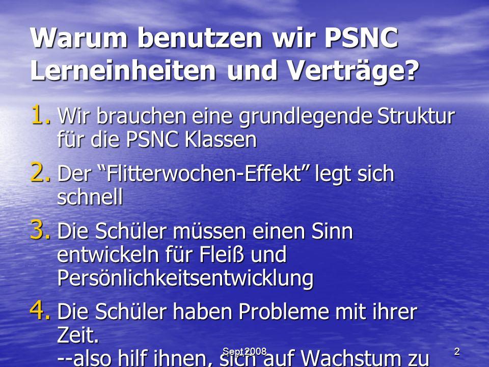 Warum benutzen wir PSNC Lerneinheiten und Verträge.