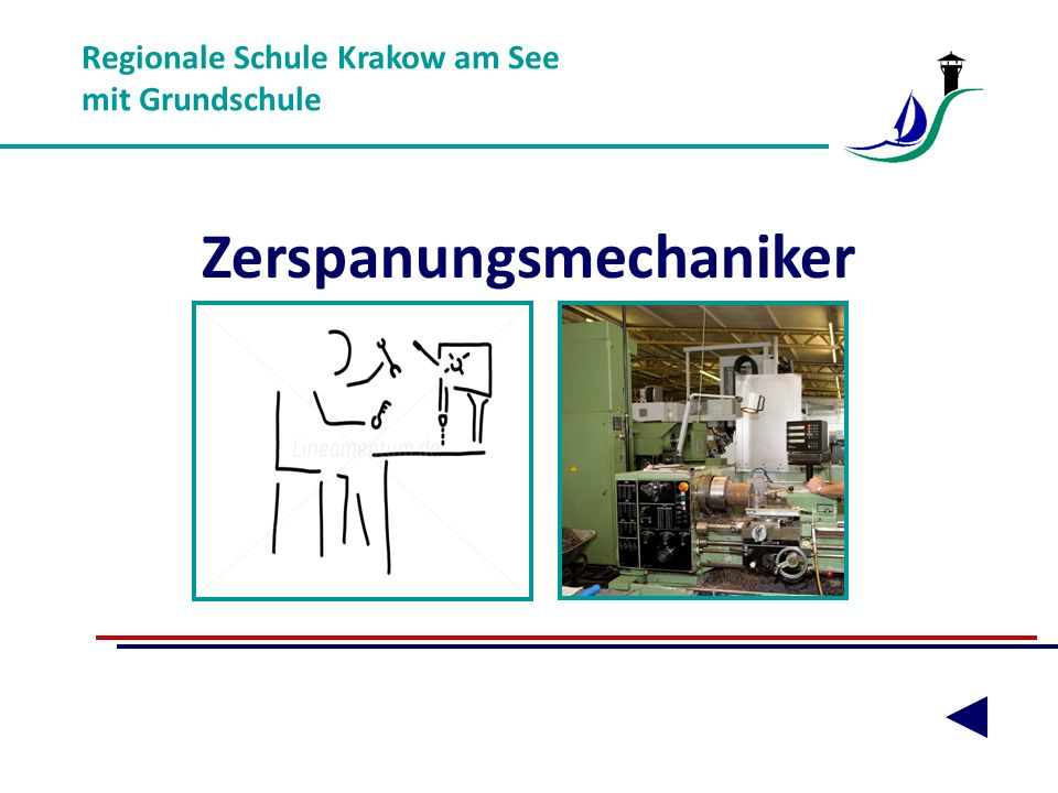 Regionale Schule Krakow am See mit Grundschule Zerspanungsmechaniker